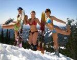 Обнаженные сноубордисты
